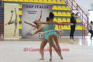 Il Palazzetto dello Sport di Carbonia ha ospitato il campionato di eccellenza e promozionale regionale di ginnastica ritmica