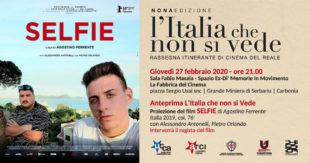 """Giovedì 27 febbraio, alla Fabbrica del Cinema, verrà proiettato il film """"Selfie"""", del regista Agostino Ferrente"""