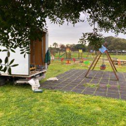 Sono iniziati oggi, a Sant'Antioco, i lavori riqualificazione dell'area giochi del Parco Giardino