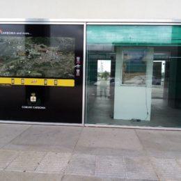 L'info point allestito al centro intermodale di Carbonia accoglierà i 215 turisti che arriveranno con l'antico treno a vapore