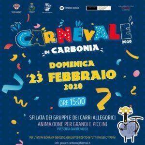 Domenica 23 febbraio, a Carbonia, si terrà la sfilata di Carnevale