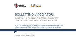 Anche oggi la Regione Sardegna ha pubblicato il Bollettino dei viaggiatori