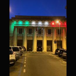 Il San Giovanni di Dio ieri sera si è tinto di tricolore