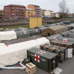 Giulio Calvisi: «Da oggi è operativo anche l'ospedale da campo di Piacenza»
