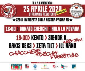 """La quarta edizione della giornata Antifascista """"Ieri Partigian* Oggi Antifascist*"""" si svolgerà in diretta streaming"""