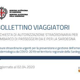 Il nuovo bollettino dei viaggiatori pubblicato dalla Regione Sardegna