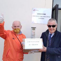 L'OPI ha consegnato stamane 100 mascherine protettive chirurgiche al direttore della ASSL di Carbonia