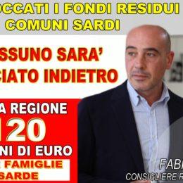 Fabio Usai (PSd'Az): «Dalla Regione i primi 120 milioni di euro per le famiglie, sbloccati 31 milioni dei fondi REIS per i Comuni»
