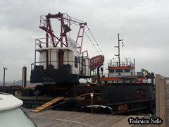 La nave Argo che dovrà occuparsi dei lavori di dragaggio del canale navigabile è approdata nel porto di Sant'Antioco