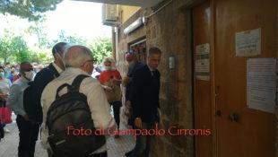 Area: sopralluogo dell'assessore regionale Roberto Frongia e del commissario regionale Roberto Neroni nella sede di Carbonia