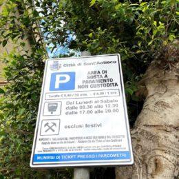 Riprenderà sabato 13 giugno il servizio di parcheggio a pagamento nel territorio comunale di Sant'Antioco