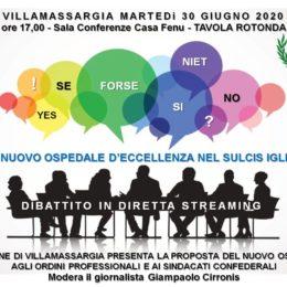 Martedì 30 giugno, a Villamassargia, si terrà una tavola rotonda su un nuovo ospedale d'eccellenza nel Sulcis Iglesiente