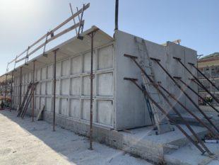 E' in fase avanzata la costruzione di 90 nuovi loculi ubicati nel Cimitero nuovo di Medadeddu, a Carbonia