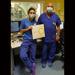 """L'equipe del dottor Salvatore Ierna, per la prima volta in Sardegna, ieri ha eseguito un intervento di""""Litotrissia Intravascolare coronarica"""""""