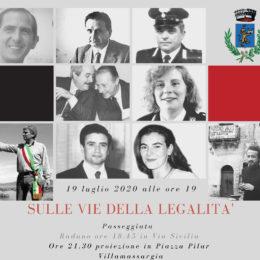 Domenica 19 luglio 2020, 28° anniversario dell'attentato a Paolo Borsellino e alla sua scorta, a Villamassargia si svolgerà una giornata di celebrazioni ufficiali