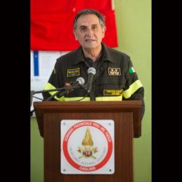 Il direttore regionale dei vigili del fuoco della Sardegna, ing. Antonio Angelo Porcu, va in pensione