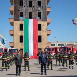 Si è svolta stamane, la cerimonia di giuramento dell'87° corso allievi vigili del fuoco