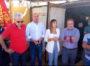 L'assessore regionale dell'Industria Anita Pili ha visitato il presidio dei lavoratori alla Sider Alloys, con i consiglieri regionali Fabio Usai e Michele Ennas