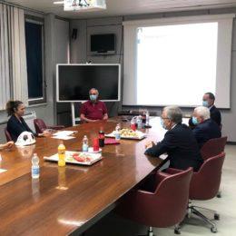 La sottosegretaria di Stato del Mise, Alessandra Todde, prima del vertice ministeriale alla Sider Alloys si è recata all'Eurallumina