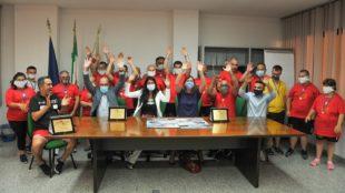 Gli assessori Mario Nieddu e Alessandra Zedda hanno incontrato i ragazzi della Polisportiva Olimpia Onlus