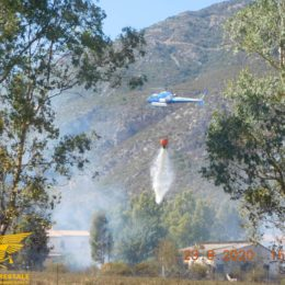 """Si sono concluse alle 16.19, a Iglesias, le operazioni di spegnimento dell'incendio sviluppatosi in località """"Cuccuru Antoni Orcu"""""""