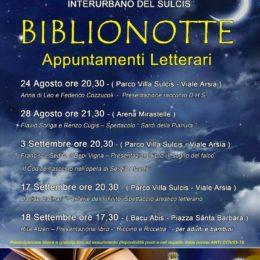 """Al via questa sera, al Parco di Villa Sulcis, a Carbonia, la rassegna di appuntamenti letterari """"Biblionotte"""""""