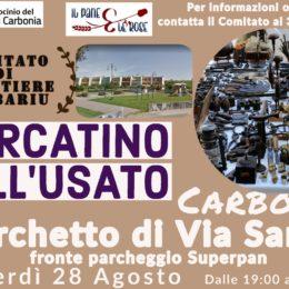 Venerdì 28 agosto, a Serbariu, si terrà il Mercatino dell'usato all'aperto, fiera del collezionismo e del vintage
