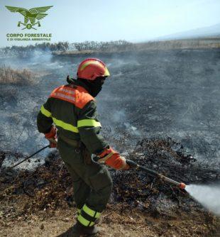 """Si sono concluse alle 16.13 le operazioni di spegnimento dell'incendio sviluppatosi stamane nelle campagne di Iglesias, in località """"Cuccu Mannu"""""""