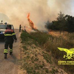 """Si sono concluse alle 12.20 le operazioni di spegnimento dell'incendio sviluppatosi nelle campagne di Iglesias, in località """"Medau Garau"""""""
