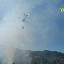 """E' stato spento alle 17.23 l'incendio sviluppatosi oggi a Carbonia, in località """"Pod.e San Luigi"""""""