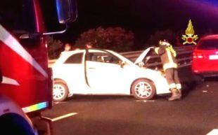 Iglesias, incidente stradale sulla SS 130, coinvolte 4 autovetture