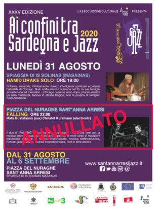 """Mats Gustafsson dà forfait alla vigilia, cambia il programma della serata d'esordio del Festival Jazz, a Is Solinas il """"solo"""" di Hamid Drake"""