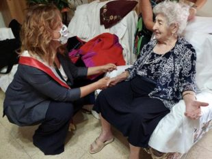 Carbonia ha festeggiato ieri la sua nuova centenaria, Margherita Nurchis