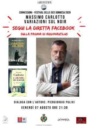 """Questa sera, alle ore 21.30, presso l'Area Archeologica Nuraghe Seruci di Gonnesa, Massimo Carlotto racconterà le sue """"Variazioni sul Noir"""""""