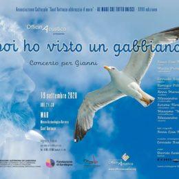 """E' in programma questa sera, alle 21.30, al MAB Museo Archeologico Barreca di Sant'Antioco, """"e poi ho visto un gabbiano… – concerto per Gianni Salidu"""""""