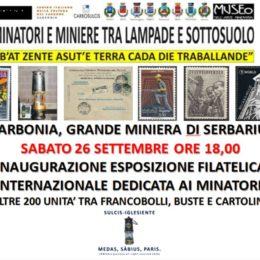 Alla Grande Miniera di Serbariu sarà visitabile fino al 15 novembre la mostra filatelica dedicata ai minatori