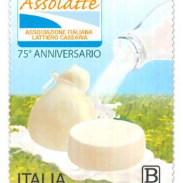 Il Mise ha emesso un francobollo per i 75 anni della Assolatte