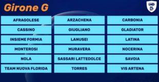 Il Carbonia e le altre cinque squadre sarde sono state inserite nel girone G della serie D di calcio, con 6 squadre laziali e 6 campane